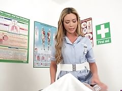 Beautiful Nurse In Stockings Natalia Forrest Gives A Handjob In Hot Point Of View Clip