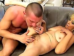 Crazy Granny Irene Gets A Youthful And Strong Dick In Her Hairy Vag