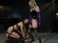 Svelte Blonde Dom Penalizes And Fucks Victim