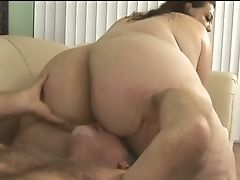 Voracious Giant Boobed Bbw Spreads Her Lush Gams To Be Fucked Missionary