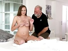 Likable Fresh Czech Chick Stacy Cruz Is Treated With Cuni By Older Bastard