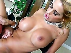 Alyssa Lynn Is A Taut Bod Mummy With Neat Bald Slit And Ginormous Faux Tits. This Hot Woman Gets Her Pink Crevasse Drilled Hard By Well Strung Up John