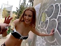 Hot And Arousing First-timer Honey Alexis Crystal Loves In Taking
