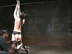 Hard Tied Subjugated Beauty India Summer Has To Go Through Hard Onanism