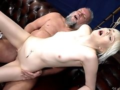 Senior Man Takes His Pill And Fucks The Petite Blonde In Ruthless Modes