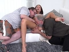 Threesome With Riana G And Her Older Friends Is The Best Practice Ever