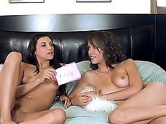 The So Hot And Interesting Interview With Two Attractive Lezzies Celeste Starlet And Her Friend