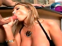 Buxomy Blonde Devon Lee Loves Perceiving John Strong Gobbling And Pouding Her Taut Gash
