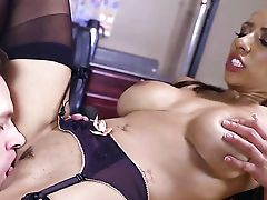 Brown-haired Cocoa Priya Price Makes Her Dirty Interracial Orgy Cravings A Come True With Her Hot Bang Pal