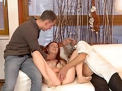 Smashing Teenager Pornography With An Old Man In Heats