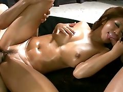Now That Juri Sawaki Is All Oiled Up She Is Ready For Threesome