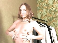 Slender Woman With Saggy Tits, Nice Finger Fucking Solo Xxx