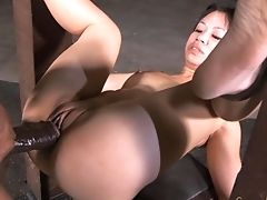 Sexy Asian Bint Gets Tied Up And Rammed Hard In The Basement