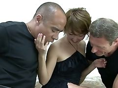 All Natural Depraved Japanese Hoe Myu Works On Two Tasty Peckers (fmm)