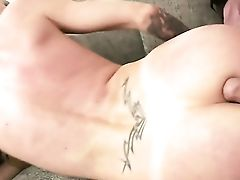 Dark-haired With Thick Knockers Parts Her Gams To Fuck Herself With Wand