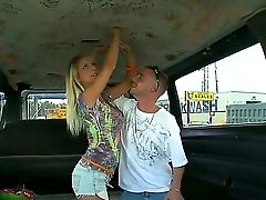 Radiant Tessa Taylor Hops In Her Fresh Friends Car And Shows Her Delicious Youthfull Tits There