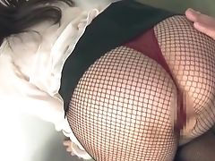 Timid Asian Stunner Aizawa Haruka In Fishnet Gives A Footjob In Point Of View