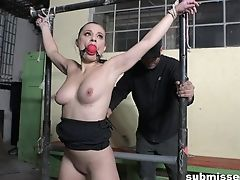 Sexy Inexperienced Azöe Tied Up And Pleasured With A Electro-hitachi. Hd