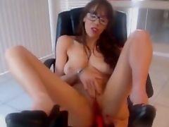 Beautiful Egghead Stunner With Attractive Voice Masturbating On Webcam