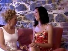 Cougar All Girl Entices Her Son's Dame