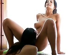 Dark Haired Adria With Gigantic Jugs And Sleek Snatch Gets Wildy Tongue Fucked By Mia  - Pornalized.com Hot Videoclip
