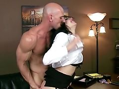 Stunning Assistant Harshly Fucked On The Desk By Horny Chief