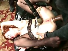 Ardent Enslaved Restrain Bondage Mega-bitch Veronica Avluv Gets Masturbated Hard