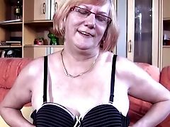 Whorish Bespectacled Granny Loves Fingerblasting Her Orgasmic Snatch