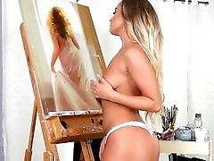 Halley Madiison Unspoiled Nakedness Display In Romantic Solo