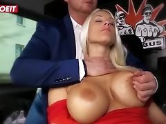 Letsdoeit - Blonde Queen Gets Intense Orgasms In A German Bus