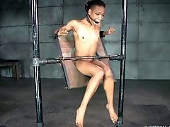 Black Man Gives The Chocolate Cutie A Bondage & Discipline Chamber Treatment