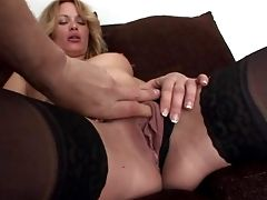 Sexy Bum Blonde Fledgling In Provocative Undergarments Loves In Getting