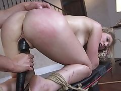 Pallid Natural Whore April Aniston Is Tied Up And Analfucked Rear End Indeed Hard