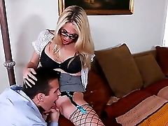 Blonde Assistant Angela Attison Luvs Throating Her Fresh Manager Talon In Real Gonzo