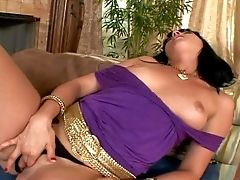 Revved On Black Haired Ava Rose With Natural Tits In