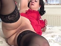 Inviting Matures Fatty Pounds Her Raw Muff With A Orgy Fucktoy