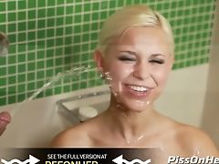 Pissdrinking-dido Angel Kneels For Golden Showers After Anal Invasion