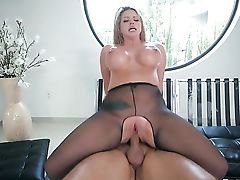 Blonde Brooklyn Chase With Massive Melons Shows Her Love For Love Stick Sucking In Oral Job Act With Keiran Lee