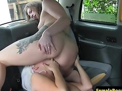 Tattooed Cabbie Les Pussylicking Dyke Honey