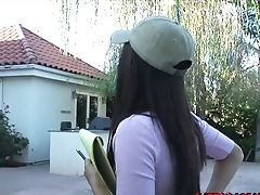 Youthfull Reena Sky Delivered For Outdoor Black Penis Pounding