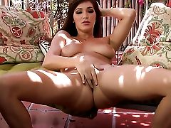 Holly Michaels With Fleshy Jugs And Clean Cunt Strips And Plays With Her Fuck Fuck Hole