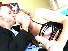 Blue Eyed Beauty Trisha Parks Takes Her Paramour's Schlong For A Test Drive