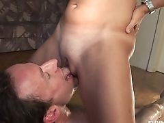 Perverted Ponytailed Sandy-haired Wanks Strong Hard-ons And Get Her Slit Fucked Mish