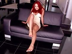 Lengthy Legged Exotic Stunner Mia Lelani With Crimson Hair Gets