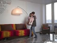 Timid Gf With Glasses Eliza Thorne Takes His Schlong In Her Mouth And Puss