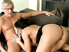 Sandra Romain And Her Horny Bang Acquaintance Christoph Clark Are In The Mood For Oral Hookup Before She Gets Cornholded
